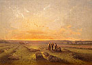 Last Rays of the Sun on a Field of Sainfoin 1870 - Antoine Chintreuil reproduction oil painting