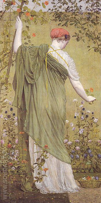 A Garden 1869 - Albert Moore reproduction oil painting