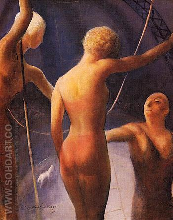 Trapeze Performers 1931 - Guy Pene du Bois reproduction oil painting