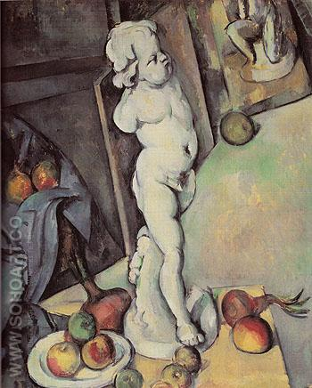 Still Life with Plaster Cupid c1895 - Paul Cezanne reproduction oil painting