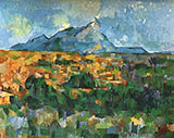 Mont Sainte Victoire c1902 - Paul Cezanne reproduction oil painting