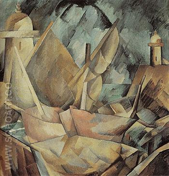 Harbour in Normandy 1909 - Georges Braque reproduction oil painting