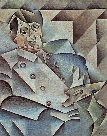 Portrait of Picasso 1912 - Juan Gris reproduction oil painting