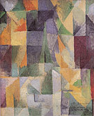 Window Open Simultaneously First Part Third Motif 1912 - Robert Delaunay reproduction oil painting