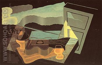 The View across the Bay 1921 - Juan Gris reproduction oil painting