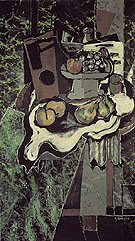 Fruit on the Table cloth with a Fruit Dish 1925 - Georges Braque reproduction oil painting