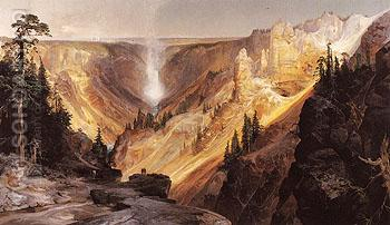 The Grand Canyon of the Yellowstone 1872 - Thomas Moran reproduction oil painting
