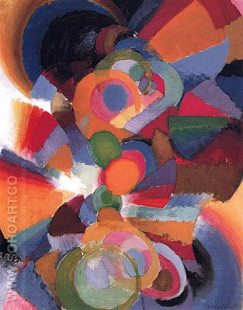 Abstraction on Spectrum Organization 5 1915 - Stanton MacDonald Wright reproduction oil painting