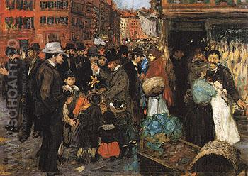 Hester Street 1905 - George Luks reproduction oil painting