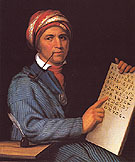 Sequoyah after a painting by Charles Bird King c1830 - Henry Inman reproduction oil painting