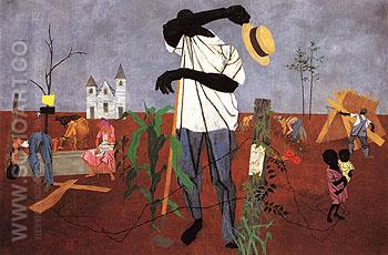 Hoeing 1943 - Robert Gwathmey reproduction oil painting