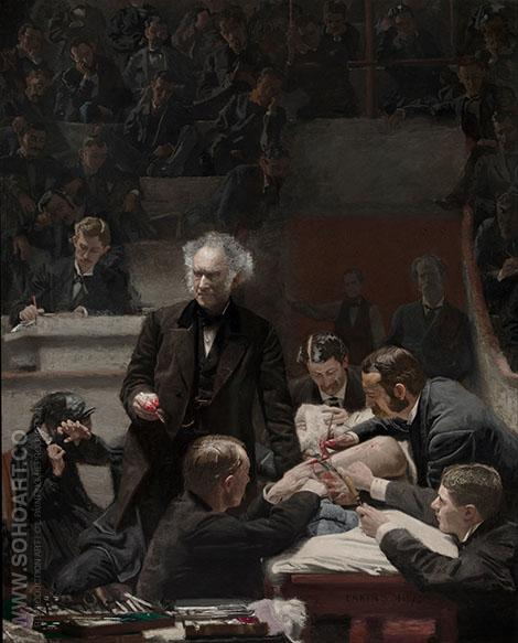 The Gross Clinic 1875 - Thomas Eakins reproduction oil painting