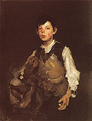 The Whistling Boy 1872 - Frank Duveneck reproduction oil painting