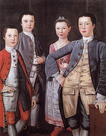The Rapalje Children c1768 - John Durand reproduction oil painting