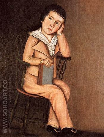 Little Boy in a Windsor Chair c1785 - The Beardsley Limner reproduction oil painting