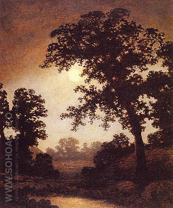 The Poetry of Moonlight c1880 - Ralph Blakelock reproduction oil painting
