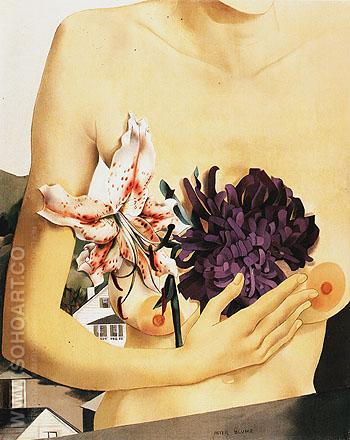 Flower and Torso 1927 - Peter Blume reproduction oil painting