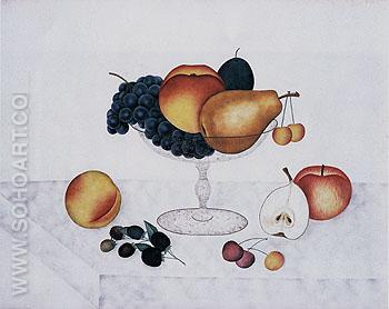 Fruit in a Glass Compote 1898 - Emma Jane Cady reproduction oil painting