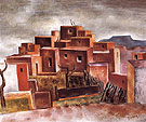 Pueblo Village - Andrew Dasburg reproduction oil painting