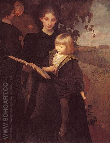 Mother and Child 192 - George de Forest Brush reproduction oil painting