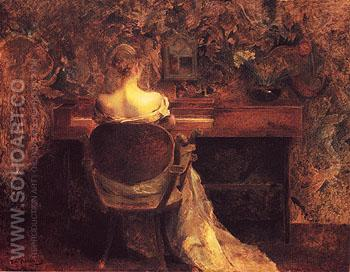 The Spinet 1902 - Thomas Wilmer Dewing reproduction oil painting