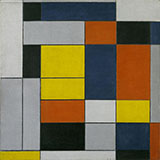 Composition with Grey Red Yellow and Blue c1920 - Piet Mondrian reproduction oil painting