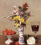 Strawberries and Wine Glass 1869 - I Fantin-latour