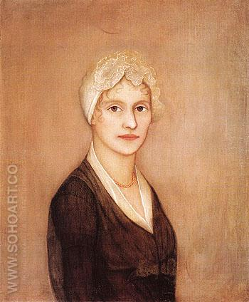 Portrait of a Young Woman possibly Mrs Hardy - Ammi Phillips reproduction oil painting