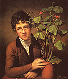 Rubens Peale with a Geranium 1801 - Rembrandt Peale reproduction oil painting