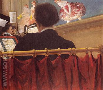 The Orchestra Pit Old Proctors Fifth Avenue Theatre c1906 - Everett Shinn reproduction oil painting