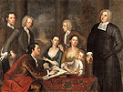 The Bermuda Group 1729 - John Smibert reproduction oil painting