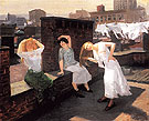 Sunday Women Drying Their Hair 1912 - John Sloan