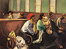 Waiting Room 1940 - Raphael Soyer reproduction oil painting