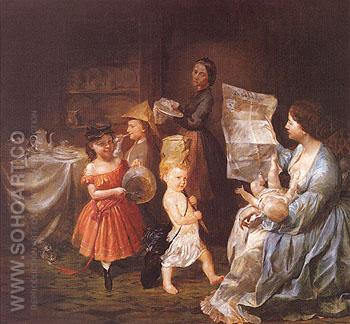 War Spirit at Home 1866 - Lilly Martin Spencer reproduction oil painting