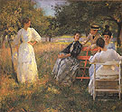 In the Orchard 1891 - Edmund Tarbell reproduction oil painting