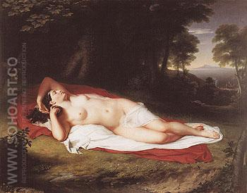 Ariadne Asleep on the Island of Naxos c1809 - John Vanderlyn reproduction oil painting