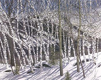 Back of Hatchett 1978 - Neil Welliver reproduction oil painting