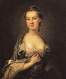 Mrs John Beale c1765 - John Wollaston reproduction oil painting