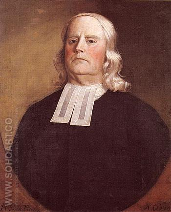 The Reverend Thomas Hiscox 1745 - Robert Feke reproduction oil painting