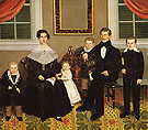 Joseph Moore and His Family c1839 - Erastus Salisbury Field reproduction oil painting