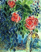 Lovers and Flowers - Marc Chagall