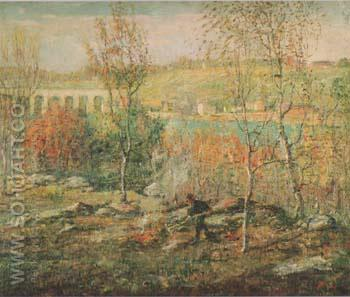 Harlem River c1911 - Ernest Lawson reproduction oil painting