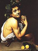 Ill Bacchus c1593 - Caravaggio reproduction oil painting