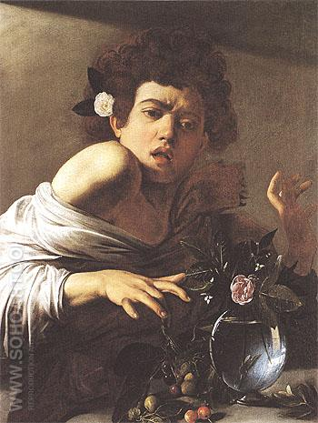 Boy Bitten by a Lizard c1595 - Caravaggio reproduction oil painting