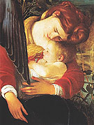The Rest on the Flight into Egypt c1596 - Caravaggio reproduction oil painting