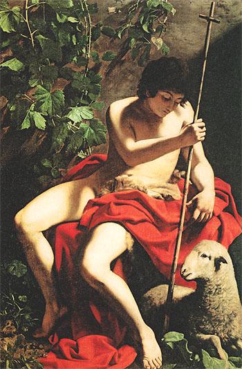 Saint John the Baptist c1597 - Caravaggio reproduction oil painting