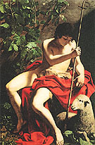 Saint John the Baptist c1597 - Caravaggio