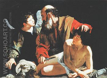 The Sacrifice of Isaac 1596 - Caravaggio reproduction oil painting