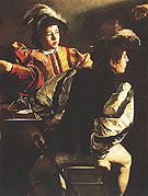 The Vocation of Saint Matthew c1599 - Caravaggio reproduction oil painting