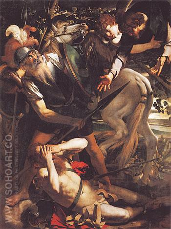 The Conversion of Saint Paul c1600 - Caravaggio reproduction oil painting